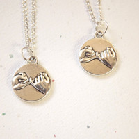 His Hers Couples Necklace  Best Friends Necklace  by koolstuff2