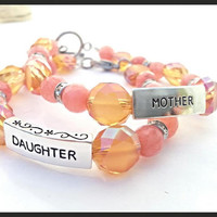 Mother Daughter Bracelets // Mother Daughter Matching Bracelets