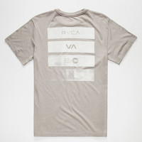 Rvca Bars Mens T-Shirt Grey  In Sizes