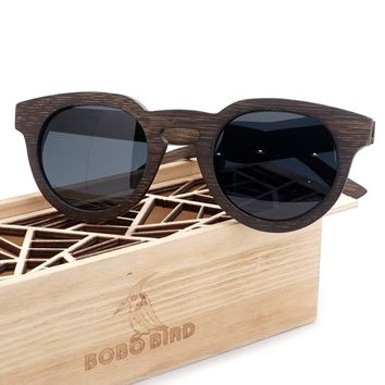 BOBO BIRD Handmade Wooden Sunglasses for Men and Women Luxury Polarized Bamboo Glasses Beach Dress with Wooden Box Gafas BG012