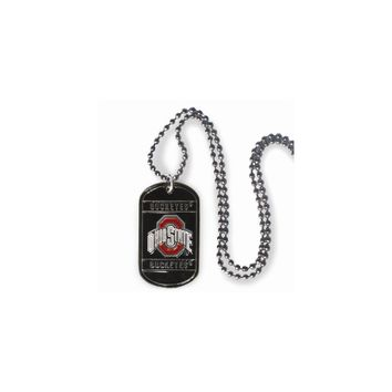 Collegiate Ohio State 20 inch Dogtag Chain Necklace