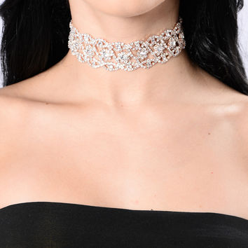 Reasons You Love Me Choker - Rose Gold