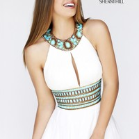 Sherri Hill 11086 Beaded Chiffon Dress