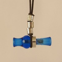 KillerKallz Working Mini Wood Duck Call Necklace (Blue)