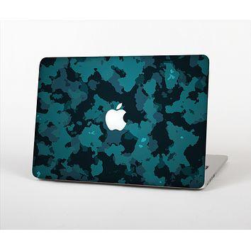 The Teal Vector Camo Skin Set for the Apple MacBook Pro 13""