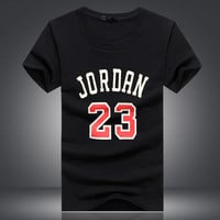 Brand Clothing 23 jordan t shirt Swag T-Shirt Cotton Men Tshirt Homme Fitness Camisetas Hip Hop tshirt Men Tops tees 5XL
