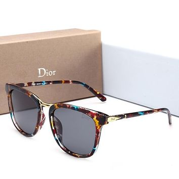 Dior Stylish Ladies Personality Summer Sunglasses Sun Shades Eyeglasses Glasses Multicolor Print I12604-1