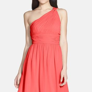 Women's Donna Morgan 'Rhea' One-Shoulder Chiffon Dress
