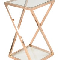 Villa Park Side Table ROSE GOLD - SHORT