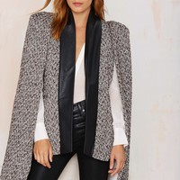 Nightwalker Phantom Tweed Cape Jacket