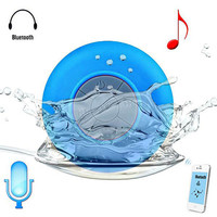 Subwoofer Shower Waterproof Wireless Bluetooth Speaker Suction Mic For iPhone Samsung