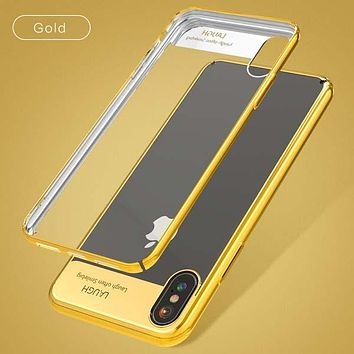 Shockproof Transparent Phone Cases For iPhone X