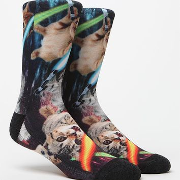 On The Byas Cats And Swords Socks - Mens Socks - Multi - One
