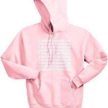 DCCKJ1A [1-800 hotline bling] Women's new hooded sweater