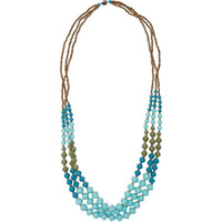 31 Bits Turquoise Mediterranean Strands Necklace