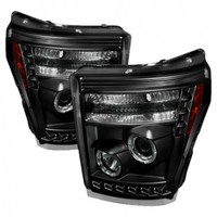 Spyder® - Black Halo Projector Headlights with LEDs - SD