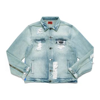 """THE PAINTER"" DENIM TRUCKER JACKET – FourTwoFour on Fairfax"