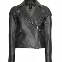 mytheresa.com -  Marc by Marc Jacobs - JETT LEATHER BIKER JACKET  - Luxury Fashion for Women / Designer clothing, shoes, bags