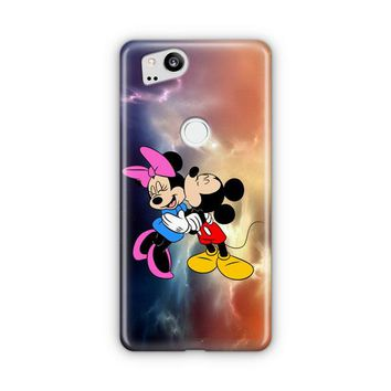 Mickey Mouse And Minnie Mouse Cute Couple Cartoon Google Pixel 3 XL Case | Casefantasy