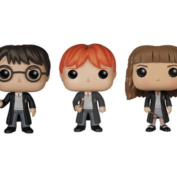 Funko Harry Potter POP! Movie Vinyl Collectors Set: Harry Potter, Ron Weasley & Hermione Action Figure