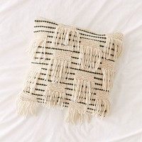 Woven Fringe Pillow | Urban Outfitters