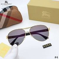 Burberry 2018 new personality high-end trend couple retro color film polarized sunglasses #4