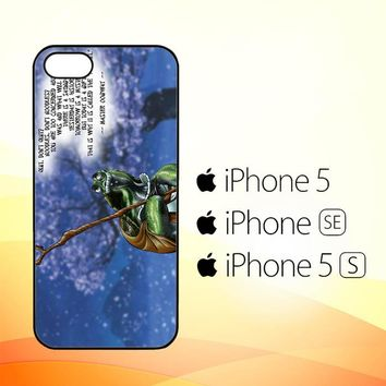 kung fu panda turtle quote Z0967  iPhone 5|5S|SE Case