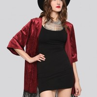 All Yours Gypsy Jacket - Wine