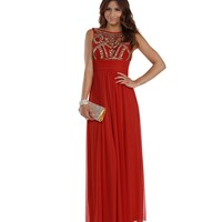 Fadi- Red Prom Dress