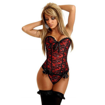 Women's Hot Sexy Underbust Bustier Waist Cincher Training Corsets Body Shapers Wear For Fitness Sexy Lingerie Corset = 4804932932