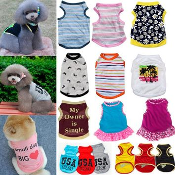 Unisex Dogs Clothing Puppy Various Summer Vest T Shirt Dress Apparel Costume New   1
