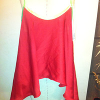 Red onesize flare tank by kinizamora on Etsy