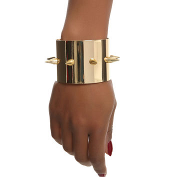 Suicide Squad - Harley Quinn Cosplay Spiked Gold Cuffs by Bioworld | Popcultcha