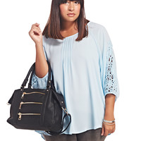 Crochet Sleeve Blouse | Wet Seal+
