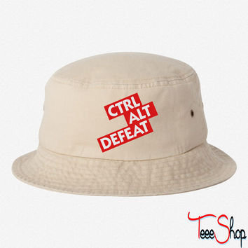 Control Alt Defeat bucket hat