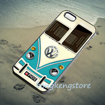 Blue teal Volkswagen VW for iPhone 4/4S/5/5S5C Case, Samsung galaxy S3/S4 Case, iPod Touch 4/5 Case