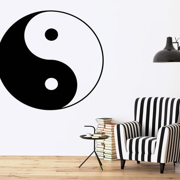 Wall Vinyl Sticker Decor Yin Yang Symbol Unity And Struggle Opposites (n056)