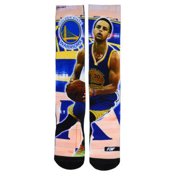 Golden State Warriors NBA Player Center Court Socks - Stephen Curry