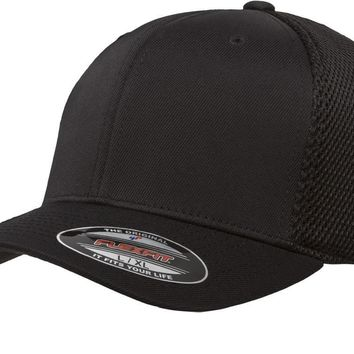 Flexfit 6533/T Baseball Cap Fitted Air Mesh Flex Fit Plain Blank Ultra Fiber Hat