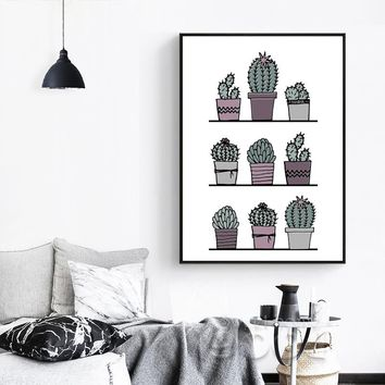 Pot Cactus Canvas Art Print Poster,,,,very cool piece!