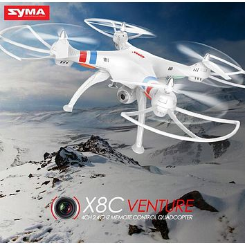 SYMA Drone X8C Quadcopter 2.4G 4CH RC Helicopter Dron Remote Control Drones Aircraft With HD Camera Headless Black White Color