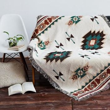 Bohemian Style Throw Blanket