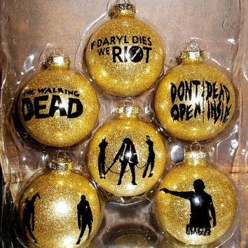 The Walking Dead 6PC Glass Ornament Set
