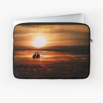 'Seagulls - Lovebirds at Sunset ' Laptop Sleeve by Gravityx9
