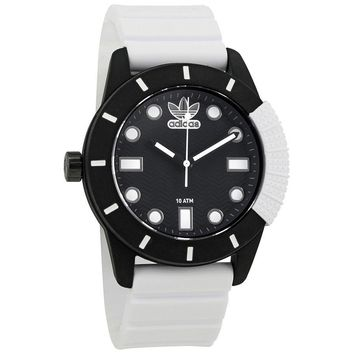 Adidas Originals Black Dial White Silicone Mens Watch ADH3132