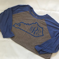 Kentucky monogram raglan