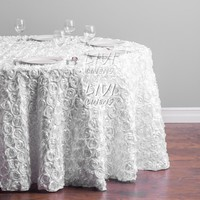 Rosette Table cloth Wedding Party Table Decoration tablecloth