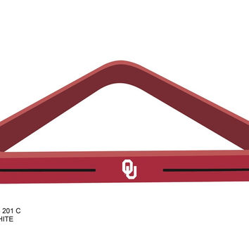 University of Oklahoma Billard Ball Triangel Rack