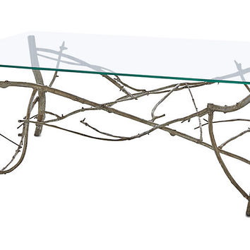 Twig Coffee Table, Silver Leaf - Coffee Tables - Living Room - Furniture | One Kings Lane