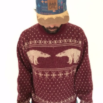 ON SALE Christmas bear comfy bennetton sweater